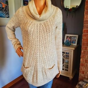Guinevere (anthro) mock turtle neck knit sweater